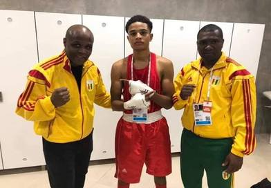 Le fils de l'international Boxeur Béa Diallo remporte son premier combat...