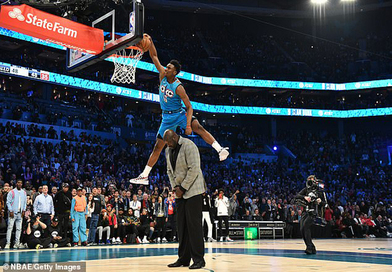 BASKET : Hamidou Diallo, d'Oklahoma City, champion slam dunk de la NBA 2019....