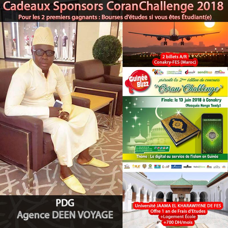 coran challenge 2018 dons deen voyage : 2 bourses d'etudes