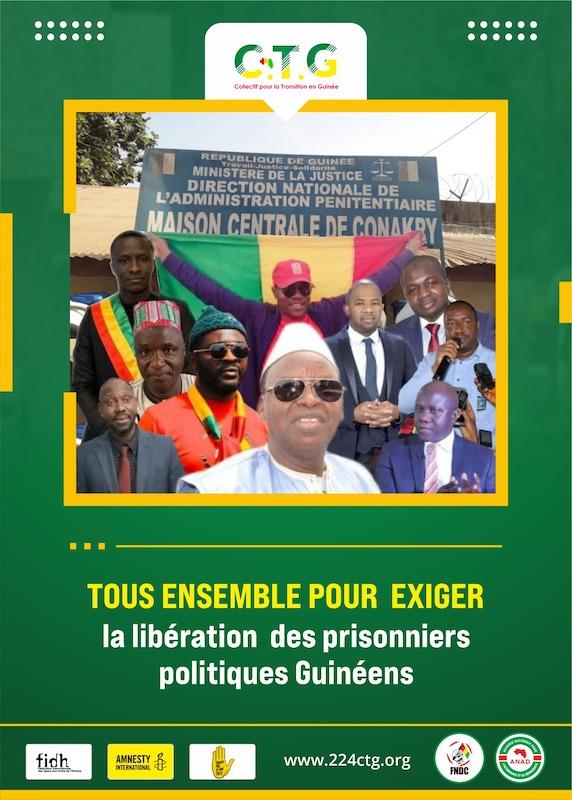 Communiqué : Le CTG (Collectif pour la Transition en Guinée) exige la  libération des détenus politiques et journalistes emprisonnés en Guinée -  224infos.org
